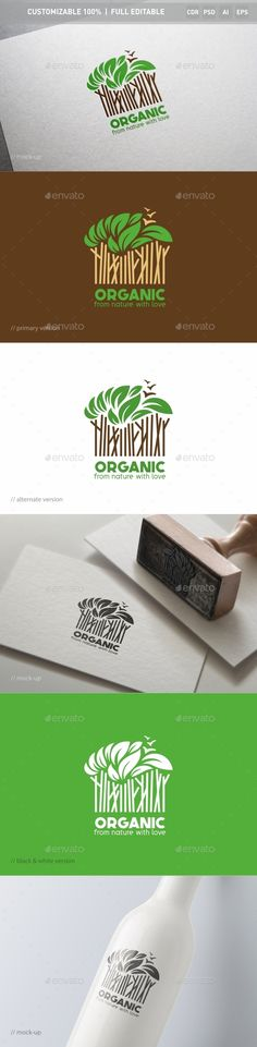 Organic Logo Template — Photoshop PSD #beauty institute #clinic • Available here → https://graphicriver.net/item/organic-logo-template/13025408?ref=pxcr
