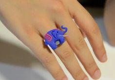 Cómo hacer un anillo con arcilla polimérica en forma de elefante