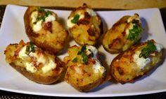 Héjában sült töltött krumpli