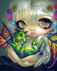 Fairy Holding Dragon