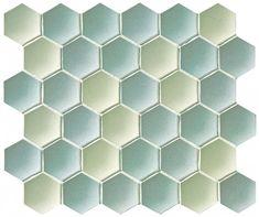 Concave hex field - unglazed porcelain