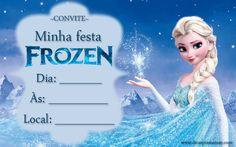 Convites festa Frozen para imprimir - Gratuitos - Dicas pra Mamãe