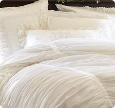 White Ruched Duvet Cover