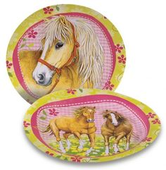 """Charming Horses"" Party Plates"