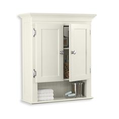 Fairmont Bathroom Wall Cabinet The elegant Fairmont Wall Cabinet in White provides the perfect storage solution in any bathroom where space is at a premium. Bathroom Wall Cabinets, Bathroom Furniture, Bathroom Storage, Bathroom Medicine Cabinet, Bathroom Organization, Medicine Cabinets, Toilet Storage, Modern Bathroom Decor, Small Bathroom