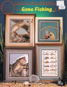CCS - Cross My Heart - Gone Fishing Counted Cross Stitch Pattern - Large Mouth Bass Cross Stitch - Fresh Water Fish Sampler