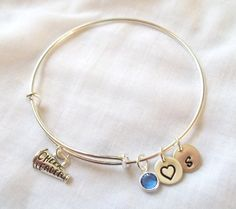 If you LOVE Alex and Ani bracelets then you will adore this one! Perfect gift for any Cheerleader! Stack alongside other bracelets or wear Cheerleading Gifts, Cheer Gifts, Team Gifts, Alex And Ani Bracelets, Bangle Bracelets, Bangles, Senior Gifts, Cheer Stuff, Team Mom