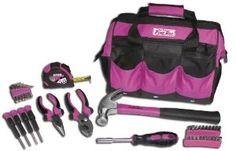 Wedding gift:The Original Pink Box PB30TBK 12-Inch Tool Bag and 30-Piece Tool Set, Pink