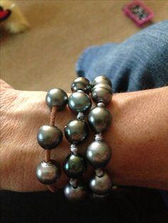 pearl. love. Tahitian pearl bracelets