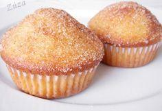 Fahéjas donut muffin recept képpel. Hozzávalók és az elkészítés részletes leírása. A fahéjas donut muffin elkészítési ideje: 35 perc Donut Muffins, Donuts, A 17, Winter Food, Cake Recipes, Cookies, Baking, Breakfast, Cup Cakes