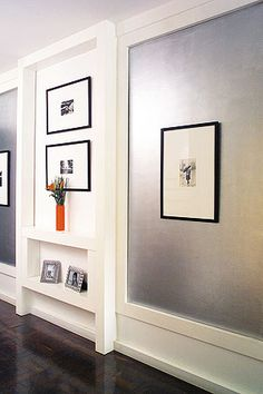 1000 ideas about silver walls on pinterest wall mirrors - Metallic paint wall designs ...