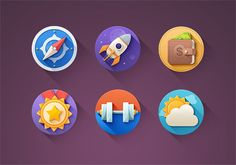 Kinda flat icons PSD para descargar