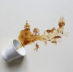 Creative Paintings Whit Coffe