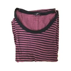 Gap • Long Sleeve Striped Tee Purple and black, 100% Rayon. Like new. GAP Tops Tees - Long Sleeve
