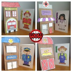 Great crafts for your community helpers unit. Create a class book on community helpers.