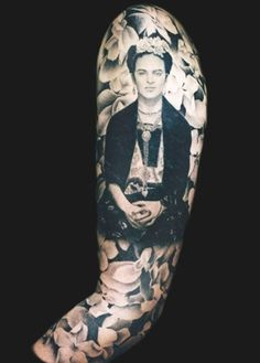 "I love you more than my own skin. "" - Frida Kahlo Frida tattoo...incredible!"