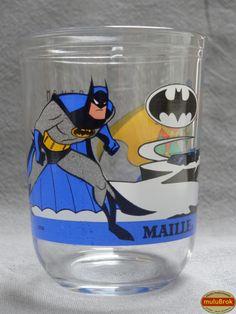 Verre Moutarde Super héros ... BATMAN et ROBIN (1995) ... www.muluBrok.fr ...