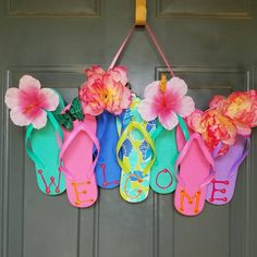Flip-Flop Wreaths for Summer
