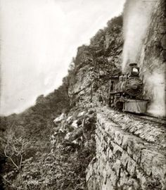 On the Edge.   Reminds me of Colorado's famous narrow gauge railroads