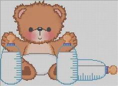 Baby bear cross stitch