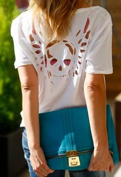Maybe I can DIY cut a shirt like that skull with wings...