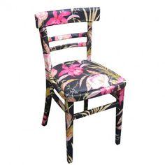 Decoupage fabric chair