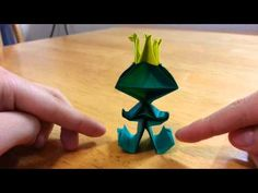 Origami frog prince tutorial