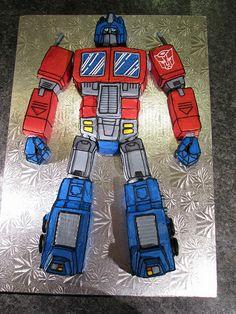 Optimus Prime Transformers Cake by buttercreamdream, via Flickr