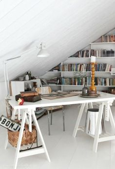Attic ideas and plans for a new makeover project! Ideas for turning an unused attic space into the room of my dreams!