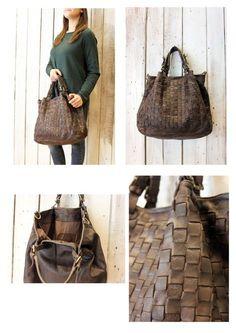 """Handmade woven leather bag """"INTRECCIATO 51"""" di LaSellerieLimited su Etsy"""
