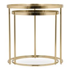 ANTIQUE MIRROR SIDE TABLES