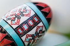 Turquoise, Pysanky, Ukrainian Easter Egg, Batik, Mata Ortiz, Charity