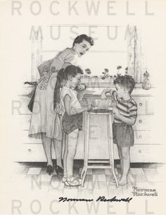 norman rockwell drawings - Google Search