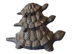 Buy Rustic Cast Iron Turtle Family Doorstop 8 Inch - Sea ...