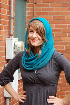 Easy Tube scarf. Make from lightweight or heavy weight fabrics.     Sew to Speak: Quick and Simple Hooded Tube Scarf