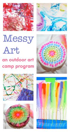 outdoor art camp program :: messy art projects :: art ideas for kids