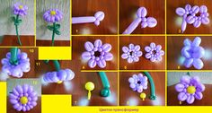 Цветы из шаров для моделирования ,фотоинструкции. Обсуждение на LiveInternet - Российский Сервис Онлайн-Дневников