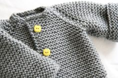 Baby Knitting Patterns Chunky The Raglan Crew Neck Cardigan by Granny knits *Free Pattern. Knit Baby Sweaters, Toddler Sweater, Knitting For Kids, Free Knitting, Baby Patterns, Knit Patterns, Knit Or Crochet, Crochet Baby, Knitted Baby