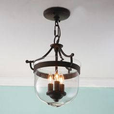 Check out Mini Smokebell Semi-Flush Ceiling Light from Shades of Light
