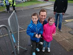 Tom and fans on the set of High Rise