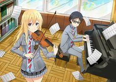 Characters = Kousei  & Kaori (Anime = Your Lie In April)