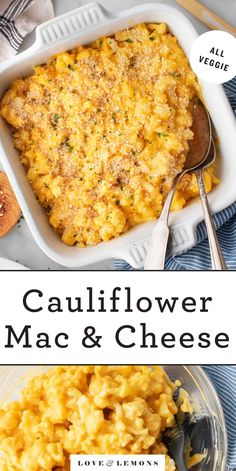 Cauliflower Mac and Cheese Recipe - Love and Lemons Creamy Cauliflower Sauce, Cauliflower Mac And Cheese, Vegan Mac And Cheese, Cauliflower Recipes, Vegan Recipes Easy, Vegetable Recipes, Vegetarian Recipes, Cooking Recipes, Veggie Meals