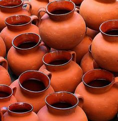 Pots of orange
