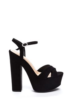 57728d43bc2 That s All Chunky Faux Suede Heels BLACK - GoJane.com Zapatos