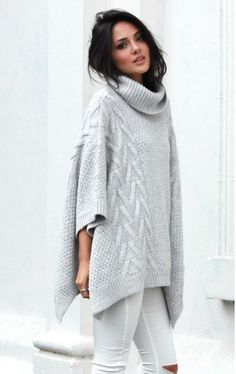 Bells Out Roll Neck Poncho — The Honeysuckle Store