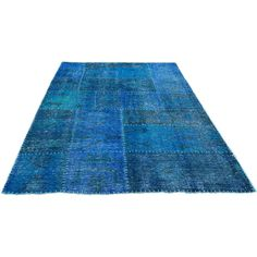 Moe's Home Collection Kochi Blue Rug (1,945 CAD) ❤ liked on Polyvore featuring home, rugs, blue wool rug, blue rug, hand loomed rug, handmade wool area rugs and blue wool area rugs