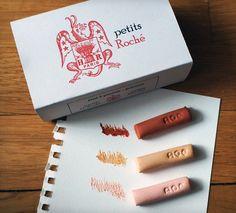 Petits Rochés - étui de 3 pastels portrait