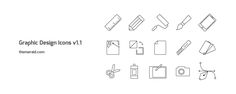 15 graphic design icons & art thin line style icons in vector illustrator format by Theme Raid