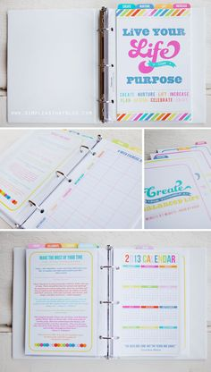 A Peek Inside my 2013 Life Planner - simple as that