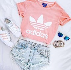 ccc7c975698 Really want to get this light pink adidas shirt ❤ . Clare Wallbanks